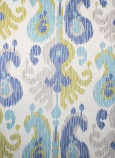 Journey, Aquamarine $23.95/yd linen/rayon #ikat #fabric