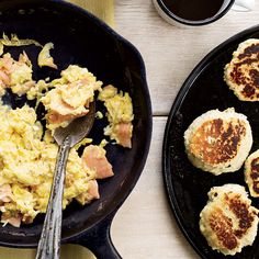 Smoked-Salmon Scramble with Dill Griddle Biscuits // More Fantastic Breakfast Sandwiches: http://www.foodandwine.com/slideshows/best-breakfast-sandwiches-in-the-us #foodandwine