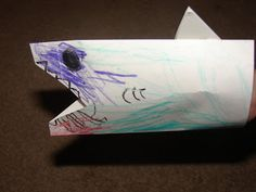 Make a shark from an envelope! Actiivity for Apololgia Exploring Creation with Swimming Creatures #homeschool
