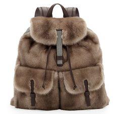 Brunello Cucinelli Mink Fur Backpack