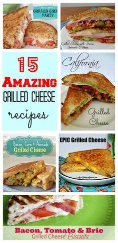 15 Grilled Cheese Recipes #callmepmc Creamy comforting Grilled cheese from blogger CallMePMc.com