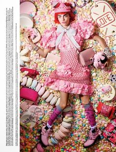 Love No. 12 Sweetie - The Love No. 12 Sweetie editorial featuring Cara Delevingne puts the magazine's childlike side on display. In each image taken by photographe...