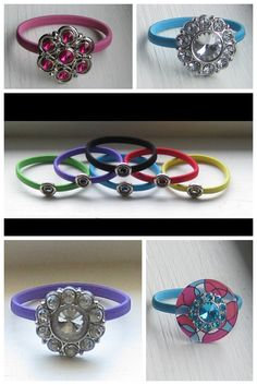 Interchangeable Snap Accessories by Dainty Lions  Snap Hair/Wrist Ties. Design your own look in a SNAP!  www.facebook.com/DaintyLions11  www.daintylions.com