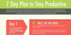 A Simple 7 Day Plan To Help You Stay Productive!