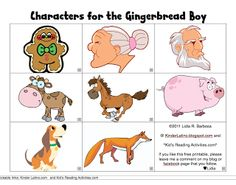 Gingerbread Man Story Characters Free   New Calendar Template Site