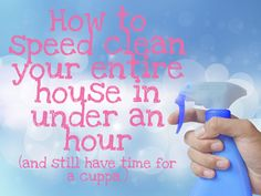Speed cleaning the house