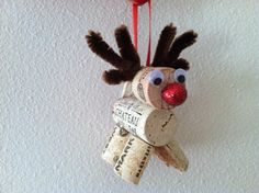 Wine cork Christmas ornaments reindeer