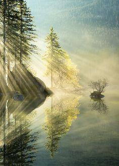 Light rays.