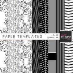 Paper Templates 017 Kit | digital scrapbooking