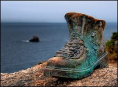 This Bronze Shoe, in Finisterre, is a tribute to all those who walk the Camino. walk