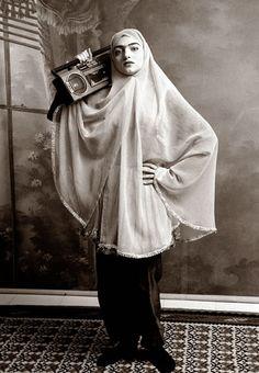 Iranian photographer Shadi Ghadirian music, artists, shadi ghadirian, photographs, qajar, iranian photograph, hijabs, photography, photographi