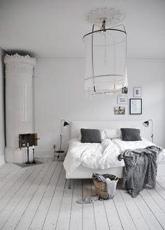 White on white room