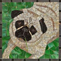 """""""Pupik"""" - isn't this mosaic by Heather Kruger adorable? <3 ! http://ahavadesigns.com"""