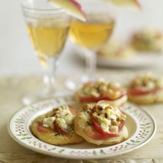 Food Recipe Pink Lady, Feta and Pine Nut Pizzas