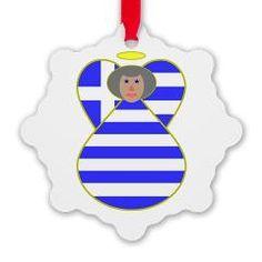 Greek Flag Angel Gra