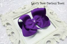 Large Pansy Boutique Hair Bow