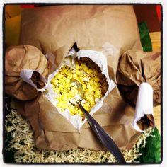 Popcorn stuffed turkey!