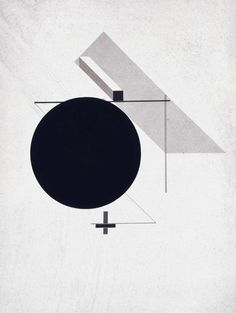 El Lissitzky, Untitled from First Kestner Portfolio Proun, print No. 2, 1919-23 #nordicdesigncollective