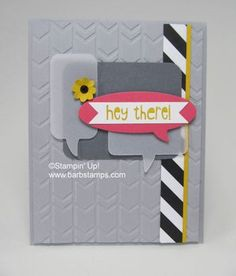 Stampin' Up! Card by Barb Stamps: Just_sayin_gray