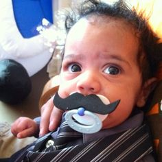 This baby has style