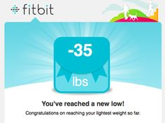 Thanks to fitbit!