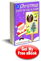 "Easy Kids Christmas Crafts: ""11 Christmas Crafts for Kids to Create"" eBook #free"