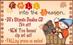 Here at DJ Inkers, we are SO ready to FALL into the Season! We've got some great deals and of course the FREEBIE available until Sept. 10, 2014! Check out the website :)