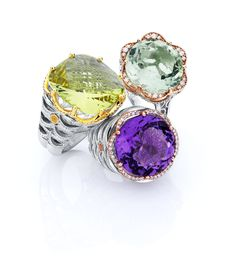 Tacori Color Gemstone Rings Sterling Silver