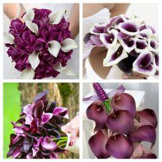 I love purple calla Lillie's... Wedding bouquet??