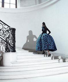 What a dress Christian Dior Haute Couture & what a photo