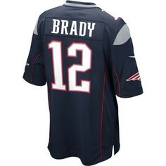 Official New England Patriots ProShop - Nike Tom Brady #12 Game Jersey-Navy