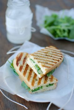 Fontina Grilled Cheese with Arugula & Truffle Oil