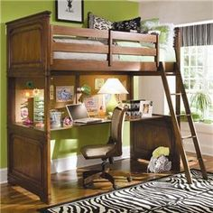desk under bunk | ... Loft Bed > Lea Industries Elite - Classics Twin Loft Bed with Desk Top