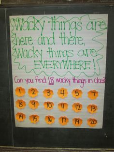 wacky wednesday dr. seuss activity | Wacky Wednesday