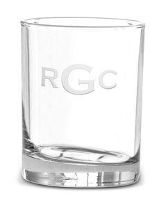 Monogrammed Double Old Fashion Glass Set glass set, fashion glass