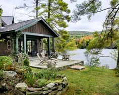 cabin, lake houses, cottag, dream homes, lakehous, lakes, place, dream houses, porch