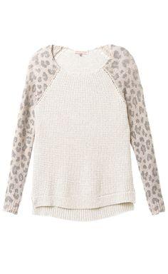 cozy leopard sweater