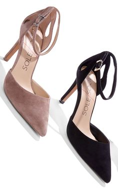 Sumptuous suede heels