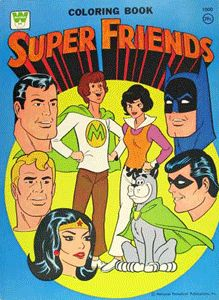 Superfriends Coloring Book