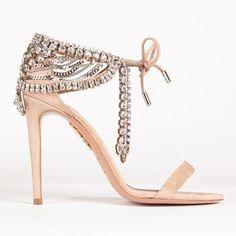 Olivia Palermo for Aquazarra rhinestone sandals