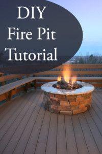 DIY Fire Pit Tutorial