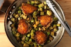 Braised Chicken and Chayote!yummy!   It's whats for dinner!