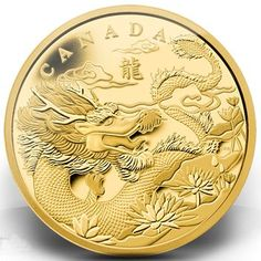 Royal Canadian Mint Dragon Gold Coin 2012 | lunaticg banknote & coin
