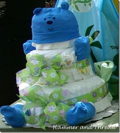 Bear Diaper Cake Tutorial