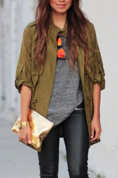 Anorak jackets + leather.