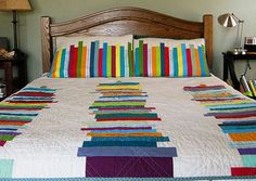 Quilt: Modern - book theme. Love the pillows with the quilt