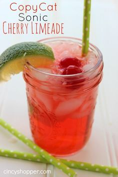 CopyCat Sonic Cherry Limeade. Perfect drink! Totally refreshing. Save $$'s and make this one at home.