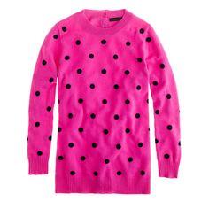 cashmere polka-dot sweater | j.crew