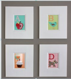 DIY Wall Art personalized wall art is a great idea to add  style to a baby's room . Click here's  tutorial details: http://www.babydeco.co.uk/12-creative-diy-nursery-ideas/