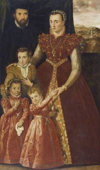 Portrait of a lady with her children
